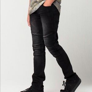 Boys RSQ Tokyo Super skinny Black Jeans size 18